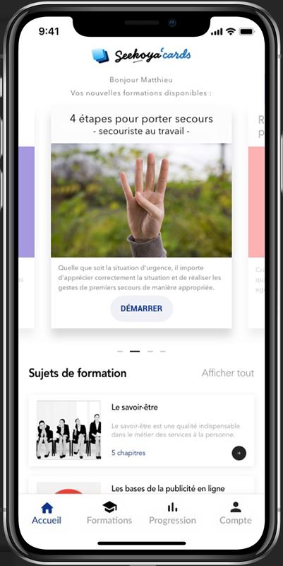 Application de mobile learning Seekoya Cards